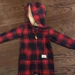 NWT Carters Hooded Jumpsuit Fleece Sz 18 mos